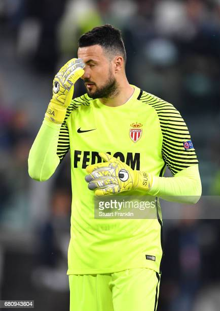 Danijel Subasic of AS Monaco reacts during the UEFA Champions League Semi Final second leg match between Juventus and AS Monaco at Juventus Stadium...