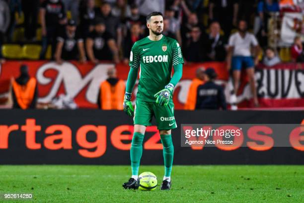 Danijel Subasic of Monaco during the Ligue 1 match between AS Monaco and Amiens SC at Stade Louis II on April 28 2018 in Monaco