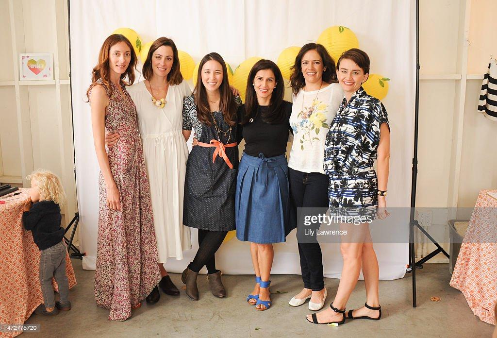 Danika Charity, Kelly Zajfen, Angel Swanson, Yasmine Johnson, Jules Leyser, and Emily Lynch host Alliance Of Moms Giant Playdate on May 9, 2015 in Los Angeles, California.