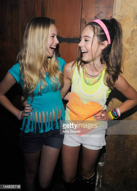 Danika Yarosh and Ava Allan attend Temara Melek's Birthday Bash and EP Release Party at Bellevardo Studios on May 12 2012 in Hollywood California