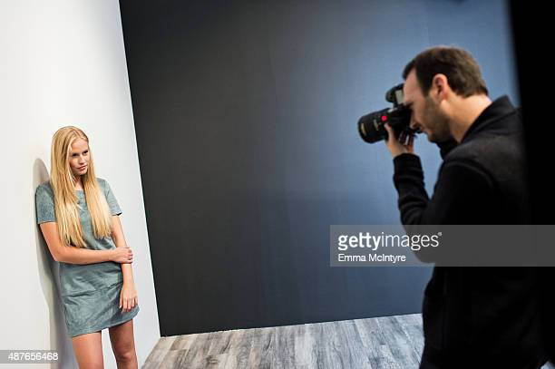 Danika Yarosh of 'Heroes Reborn' poses for a portrait with Jeff Vespa in the Guess Portrait Studio at the 2015 Toronto International Film Festival on...