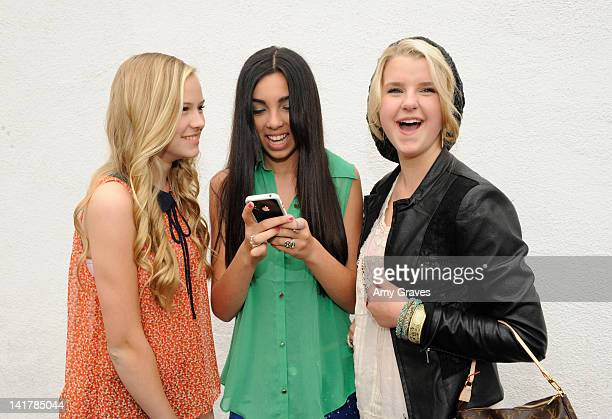 Danika Yarosh, Savannah Hudson and Madison Curtis attend the Shamrock and Roll Concert for St. Jude Children's Hospital on March 17, 2012 in Los...