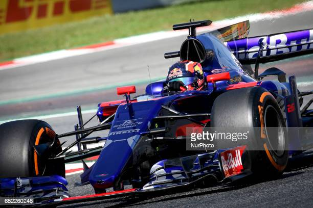 Danil Kvyat of Toro Rosso during the first training session of GP of Spain in Montmeló at Catalunya's Circuit on May 12 2017