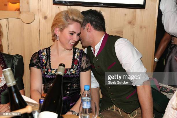 Danila Langguth and Erol Sander during the 28th Weisswurstparty at Hotel Stanglwirt on January 25 2019 in Going near Kitzbuehel Austria