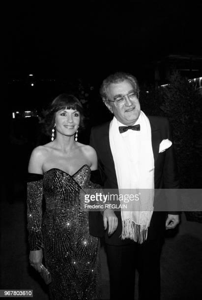 Danièle Evenou et Georges Fillioud lors de la soirée des 7 d'Or à Paris le 25 octobre 1985 France