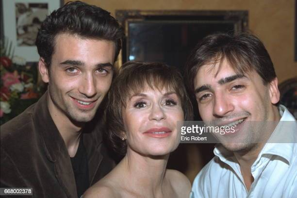 Dani}le Evenou with her sons Fr{d{ric and Jean Baptiste Martin