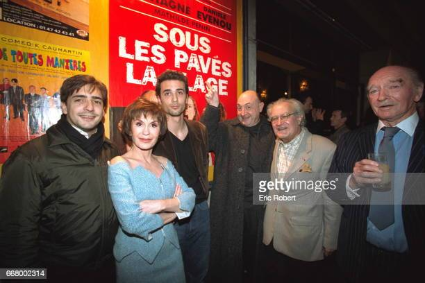 Dani}le Evenou with sons Fr{d{ric and Jean Baptiste Martin and Guy Montagn{ Georges Fillioud and Eddie Barclay