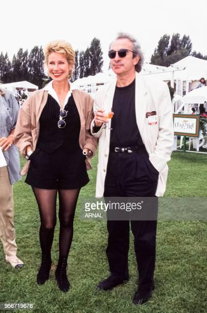 Danièle Gilbert et son mari Patrick lors du Trophée Lancôme à SaintNomlaBretèche en septembre 1988 France