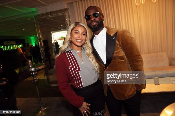 DaniLeigh and BryanMichael Cox attend the Bryan Michael Cox 16th Annual Music And Memory PreGrammy Brunch 2020 at SLS Hotel on January 26 2020 in...