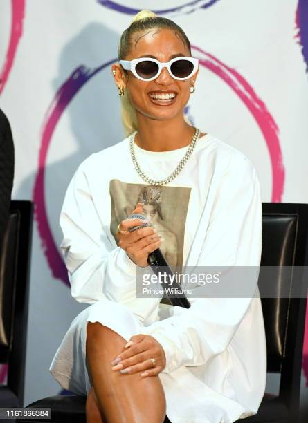 DaniLeigh attends 2019 Essence Festival Day 1 at Ernest N Morial Convention Center on July 5 2019 in New Orleans Louisiana