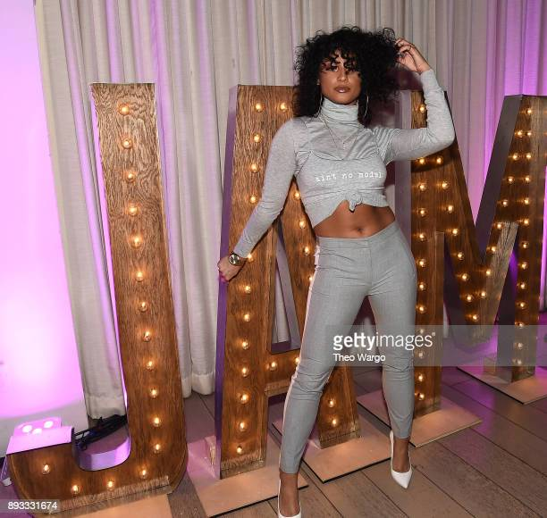 DaniLeigh attends as Def Jam Recordings Celebrates the Holidays with Patron Tequila at Spring Place on December 14 2017 in New York City