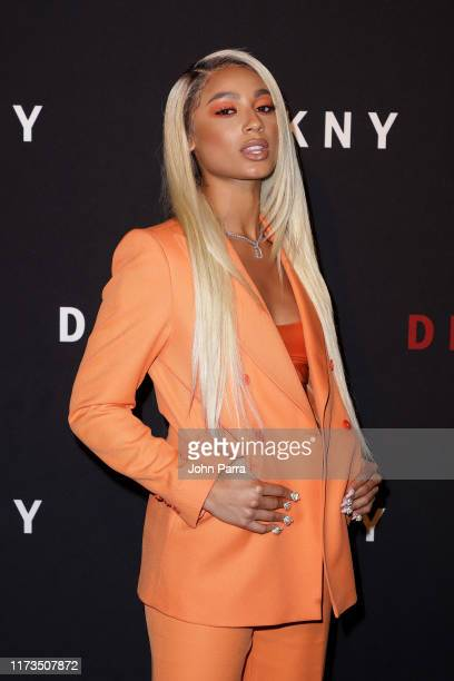 DaniLeigh attends as DKNY turns 30 with special live performances by Halsey and The Martinez Brothers at St Ann's Warehouse on September 09 2019 in...