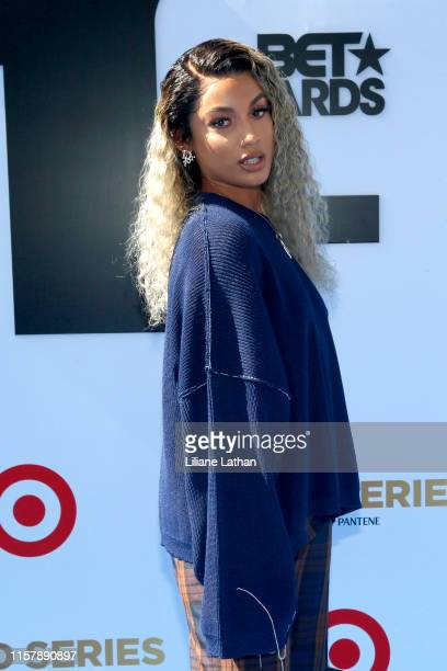DaniLeigh attends the 2019 BET Awards at Microsoft Theater on June 23 2019 in Los Angeles California