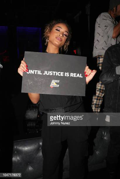 DaniLeigh attends the BET Hip Hop Awards 2018 YG Def Jam After Party at Rockwell Miami on October 6 2018 in Miami Beach Florida