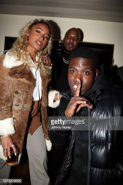 DaniLeigh Jeezy and Casanova attend the 2018 Def Jam Holiday Party at China Chalet on December 13 2018 in New York City
