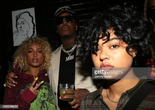 Danileigh Jeremih and Samaria attend Ty Dolla $ign and Jeremih's MihTy Album Release Party at The VNYL on October 24 2018 in New York City