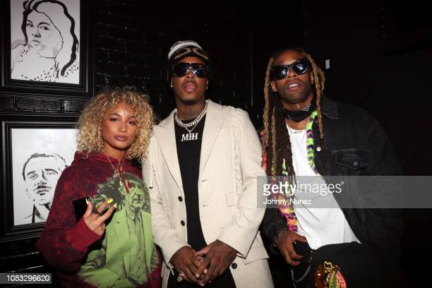 Danileigh Jeremih and Ty Dolla $ign attend Ty Dolla $ign and Jeremih's MihTy Album Release Party at The VNYL on October 24 2018 in New York City