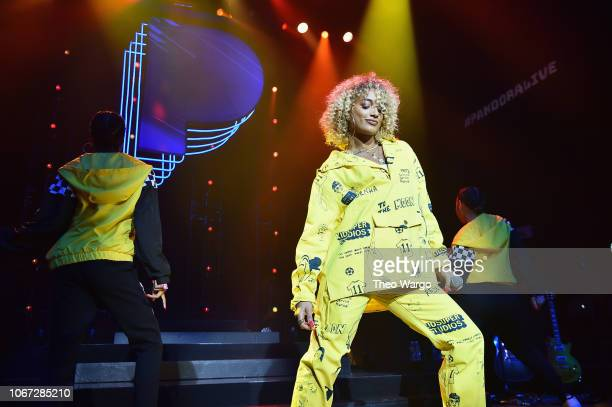 DaniLeigh performs on stage at Pandora Presents Beyond 2018 on November 13 2018 in New York City