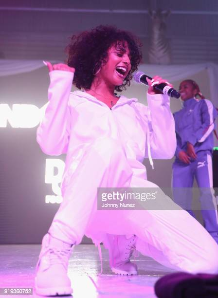 Danileigh performs onstage at the 2 Chainz Hosts NBA AllStar Def Jam End Party at Milk Studios on February 16 2018 in Los Angeles California