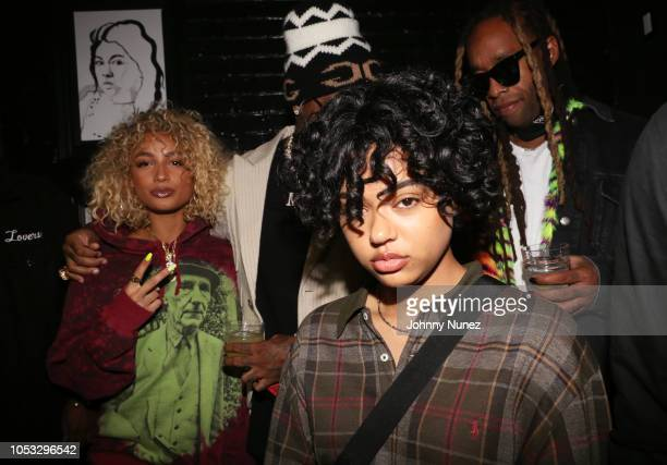 Danileigh Samaria and Ty Dolla $ign attend Ty Dolla $ign and Jeremih's MihTy Album Release Party at The VNYL on October 24 2018 in New York City