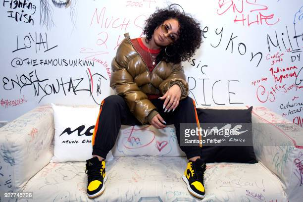 DaniLeigh visits Music Choice on March 5 2018 in New York City