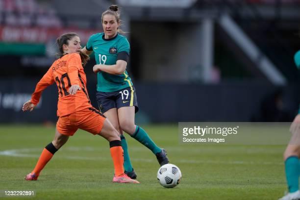 Dani'lle van de Donk of Holland Women, Ella Mastrantonio of Australia Women during the International Friendly Women match between Holland v Australia...