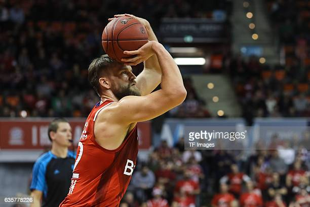 Danilo Barthel of Bayern Muenchen in action during the Eurocup Round 10 Basketballl match between FC Bayern Muenchen and Buducnost Voli Podgorica at...