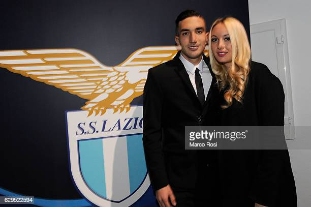 Danilo Cataldi and wife during the SS Lazio Christmas Dinner on December 13 2016 in Rome Italy