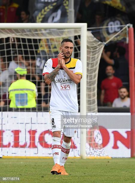 Danilo Cataldi of Benevento Calcio stands disappointed during the serie A match between Benevento Calcio and Genoa CFC at Stadio Ciro Vigorito on May...