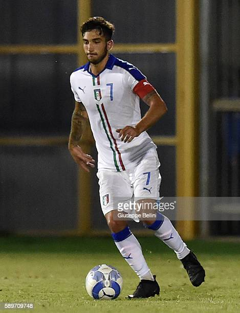 Danilo Cataldi of Italy U21 in action during the international friendly match between Italy U21 and Albania U21 at Stadio Riviera delle Palme on...