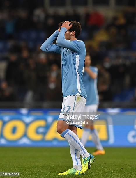 Danilo Cataldi of SS Lazio during the Serie A match between SS Lazio and Hellas Verona FC at Stadio Olimpico on February 11 2016 in Rome Italy