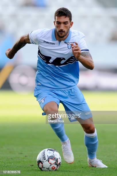 Danilo Cataldi of SS Lazio in actin during the Borussia Dortmund v Lazio PreSeason Friendly at the Essen Stadium on August 12 2018 in Essen Germany