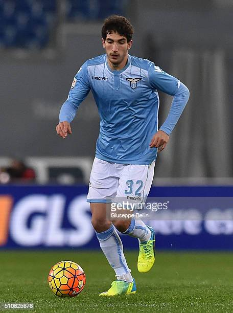 Danilo Cataldi of SS Lazio in action during the Serie A match between SS Lazio and Hellas Verona FC at Stadio Olimpico on February 11 2016 in Rome...