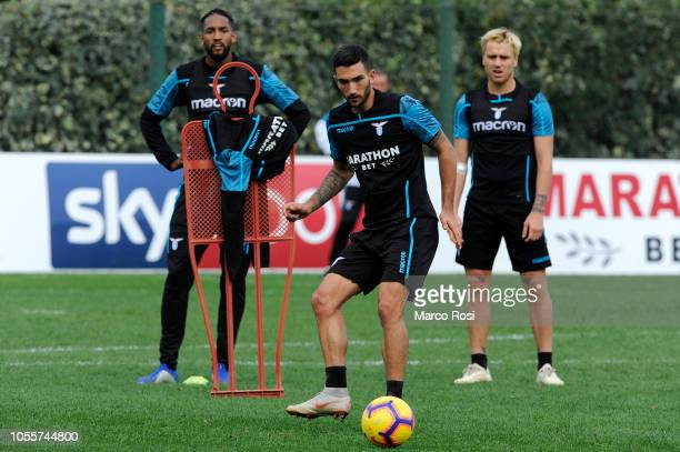 Danilo Cataldi of SS Lazio in action training session on October 31 2018 in Rome Italy