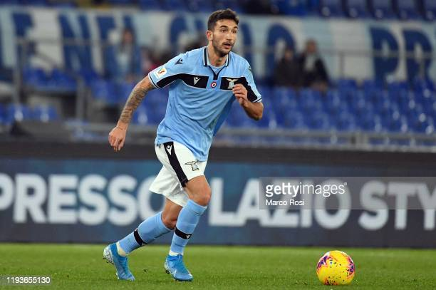 Danilo Cataldi of SS Lazio kicks the ball during the Coppa Italia match between SS Lazio and US Cremonese at Olimpico Stadium on January 14 2020 in...