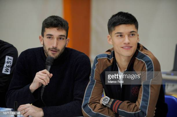 Danilo Cataldi of SS Lazio speaks during the SS Lazio players meet school students on December 11 2018 in Rome Italy