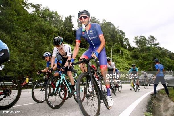 Danilo Celano of Italy and Team Sapura Cycling / Feeding / during the 25th Le Tour de Langkawi 2020 Stage 4 a 1561km stage from Putrajaya to Genting...