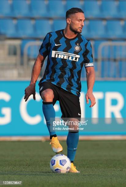 Danilo D Ambrosio of FC Internazionale in action during the PreSeason Friendly match between FC Internazionale and Lugano at the club's training...