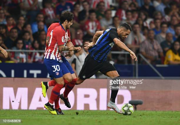 Danilo D'Ambrosio of FC Internazionale in action during the International Champions Cup 2018 match between Atletico Madrid and FC Internazionale at...