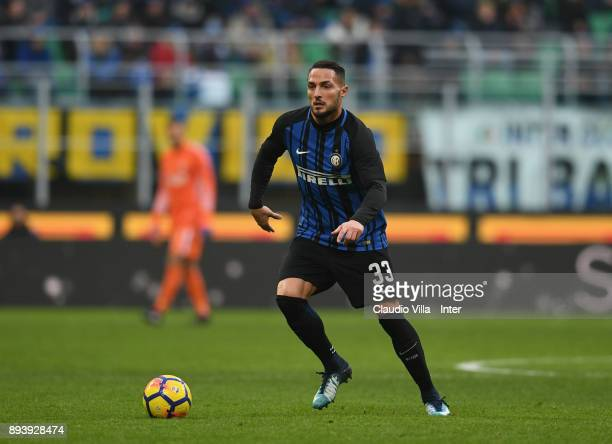 Danilo D'Ambrosio of FC Internazionale in action during the Serie A match between FC Internazionale and Udinese Calcio at Stadio Giuseppe Meazza on...
