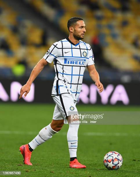 Danilo D'Ambrosio of FC Internazionale in action during the UEFA Champions League Group B stage match between Shakhtar Donetsk and FC Internazionale...