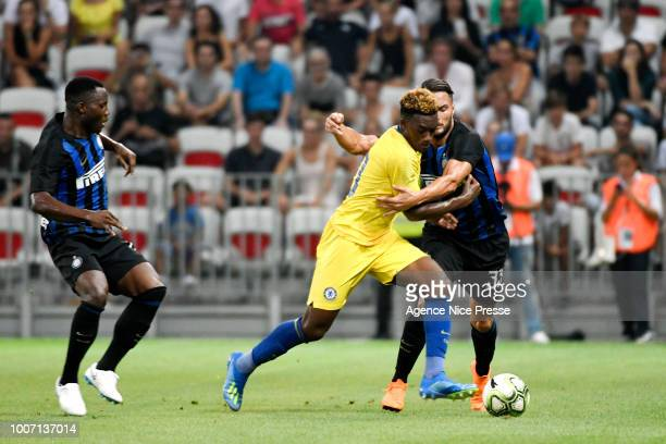 Danilo D'Ambrosio of Inter of Callum Hudson Odoi of Chelsea during the International Champions Cup match between Chelsea and Inter Milan at Allianz...