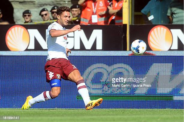 Danilo D'Ambrosio of Torino FC in action during the Serie A match between Bologna FC and Torino FC at Stadio Renato Dall'Ara on September 22 2013 in...