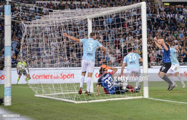 Danilo D'Ambrosio score goal 11 during the Italian Serie A football match between SS Lazio and FC Inter at the Olympic Stadium in Rome on may 20 2018