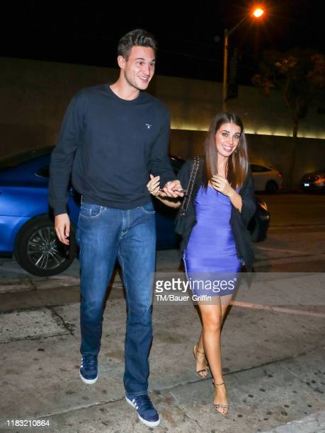 Danilo Gallinari and Eleonora Boi are seen on November 17, 2019 in Los Angeles, California.
