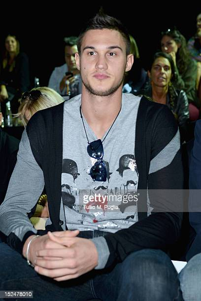 Danilo Gallinari attends the Iceberg Spring/Summer 2013 fashion show as part of Milan Womenswear Fashion Week on September 21, 2012 in Milan, Italy.