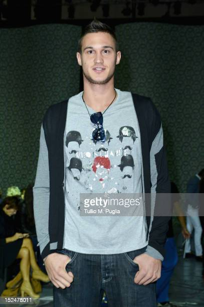 Danilo Gallinari attends the Iceberg Spring/Summer 2013 fashion show as part of Milan Womenswear Fashion Week on September 21 2012 in Milan Italy