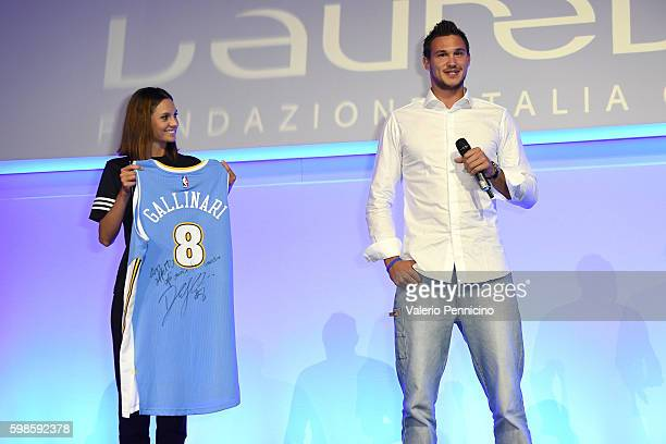 Danilo Gallinari attends the Laureus F1 Charity Night at the MercedesBenz Spa on September 1 2016 in Milan Italy