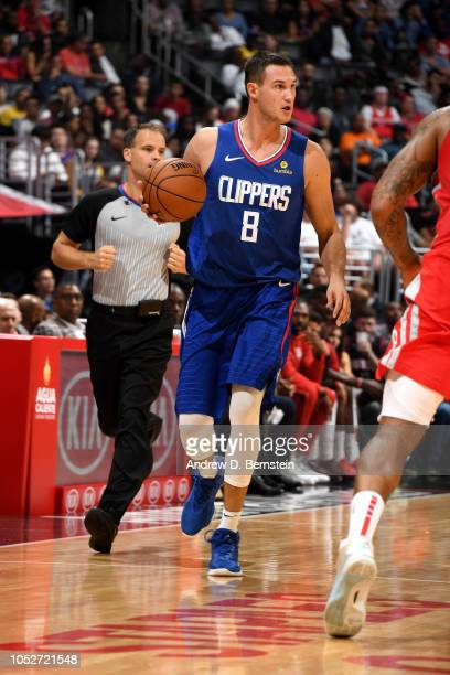 Danilo Gallinari of the LA Clippers handles the ball against the Houston Rockets on October 21 2018 at Staples Center in Los Angeles California NOTE...