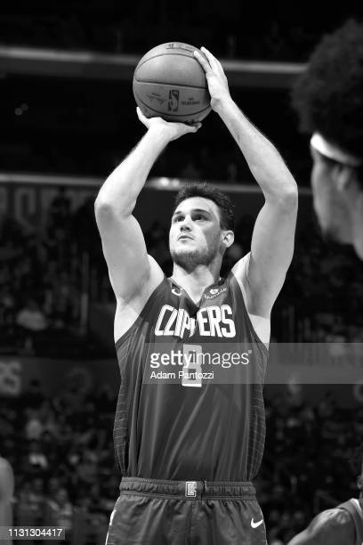 Danilo Gallinari of the LA Clippers shoots a free throw during the game against the Brooklyn Nets on March 17 2019 at STAPLES Center in Los Angeles...